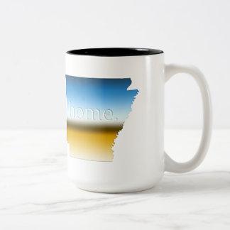 アーカンソーの家の地平線 ツートーンマグカップ