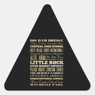 アーカンソーの州のタイポグラフィの芸術のリトルロック都市 三角形シール