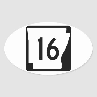 アーカンソーの州のルート16 楕円形シール