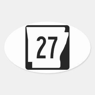 アーカンソーの州のルート27 楕円形シール