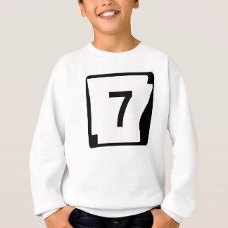 アーカンソーの州のルート7 スウェットシャツ