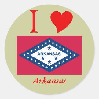 アーカンソーの州の旗 ラウンドシール