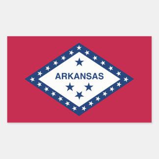 アーカンソーの州の旗、米国 長方形シール