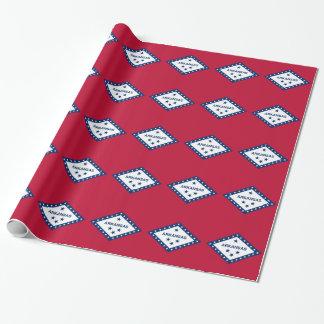 アーカンソーの旗が付いている包装紙 ラッピングペーパー
