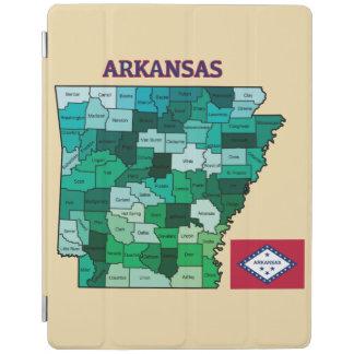 アーカンソーの旗そして地図 iPadスマートカバー