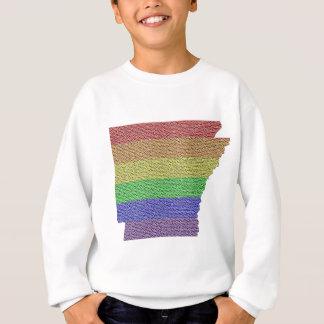 アーカンソーの虹のプライドの旗のモザイク スウェットシャツ