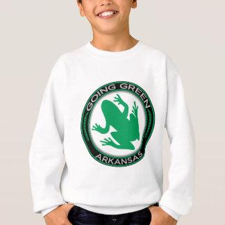 アーカンソーの行く緑のカエル スウェットシャツ