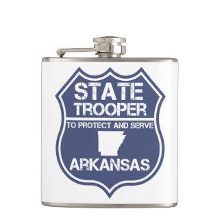 アーカンソーを保護し、役立つ州警察官 フラスク