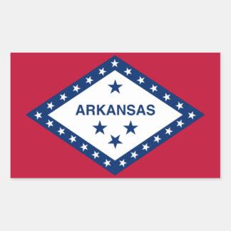 アーカンソー米国はステッカーに印を付けます 長方形シール