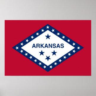 アーカンソー、米国の旗が付いているポスター ポスター