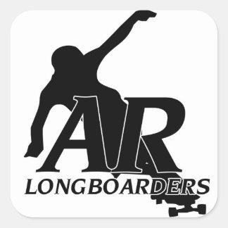 アーカンソーLongboardersのfreerideのステッカー スクエアシール