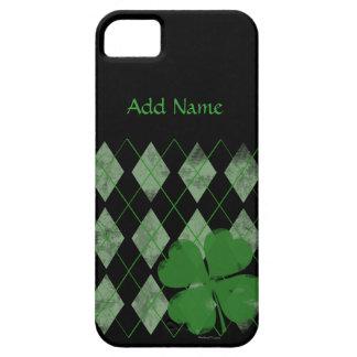 アーガイル柄のなシャムロックのカスタムなiPhone 5つのケース iPhone SE/5/5s ケース
