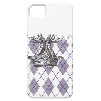 アーガイル柄のなドラゴンの王冠のiPhoneの場合 iPhone SE/5/5s ケース