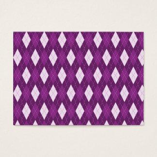 アーガイル柄のな紫色 名刺