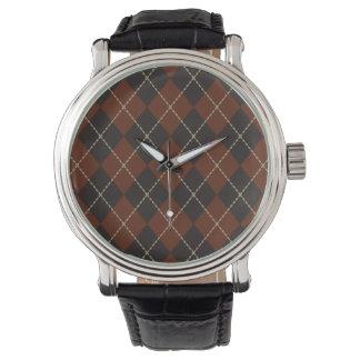 アーガイル柄のな腕時計 腕時計