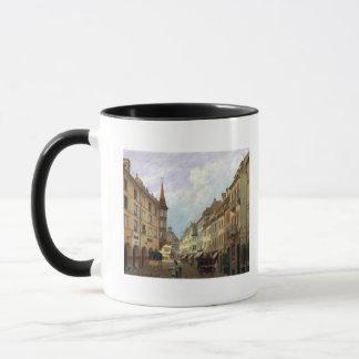 アーケード、壮大な通り、コルマール1876年 マグカップ