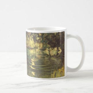 アーサーの黒、ヴィンテージの妖精のダンスによる妖精の回転 コーヒーマグカップ