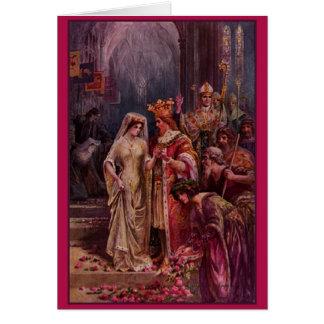 アーサーヴィンテージ王の結婚式の招待状 カード