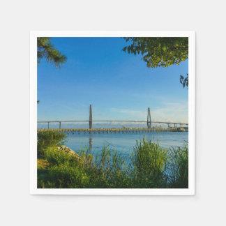 アーサー景色のRavenel橋 スタンダードカクテルナプキン