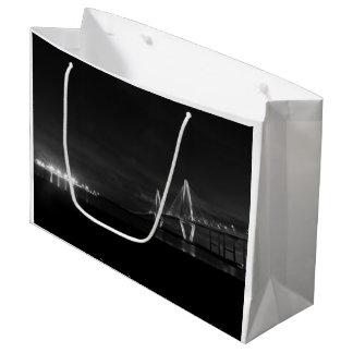 アーサーRavenel夜Panoのグレースケール ラージペーパーバッグ
