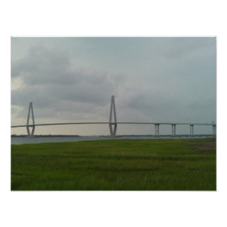 アーサーRavenel Jr.橋-チャールストン、SC ポスター