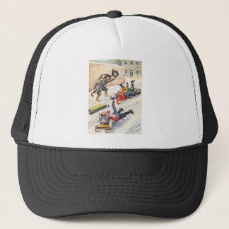 アーサーThiele -ボブスレーに乗る人間の形をした猫 キャップ