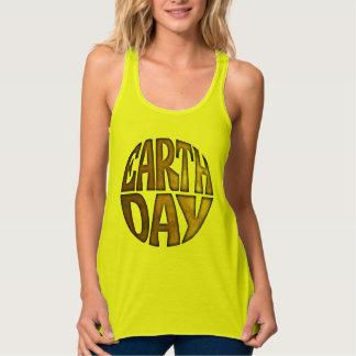 アースデーのエコのawarenesの女性のタンクトップかTシャツ タンクトップ