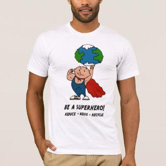 アースデーのスーパーヒーローのTシャツ Tシャツ