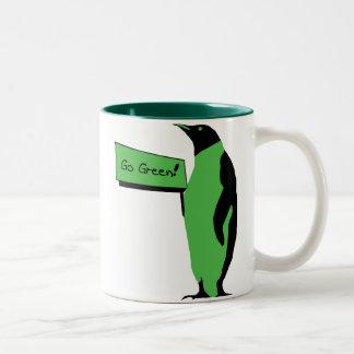 アースデーのペンギン ツートーンマグカップ