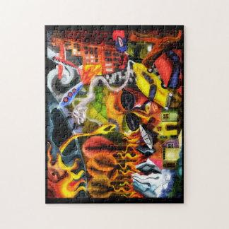 アースデーの地球温暖化の絵画のパズル ジグソーパズル