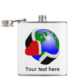 アースデーの環境保護 フラスク
