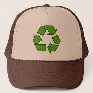 アースデーの緑のリサイクルの記号の帽子 キャップ