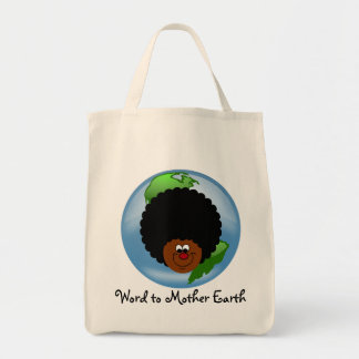 アースデーを祝って下さい: あなたの大地への単語 トートバッグ