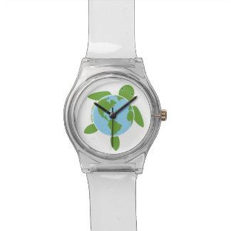 アースデー「保存惑星」のウミガメの腕時計 腕時計