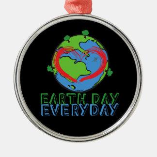 アースデー: 大自然の緑を及びリサイクルされる保って下さい メタルオーナメント