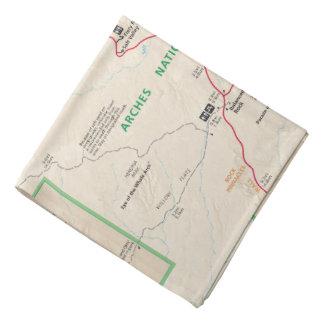 アーチの地図のバンダナ バンダナ