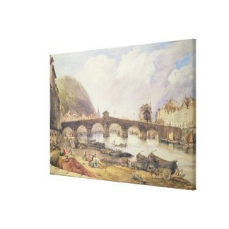 アーチの橋、リエージュ キャンバスプリント