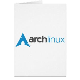 アーチのLinuxのロゴ カード