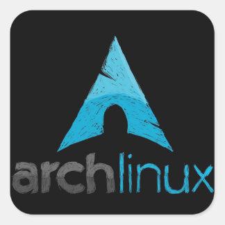 アーチのLinuxのロゴ スクエアシール