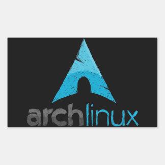 アーチのLinuxのロゴ 長方形シール