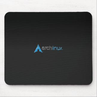 アーチのLinuxの黒 マウスパッド