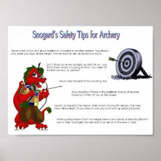 アーチェリーのためのSnogardの安全ヒント ポスター