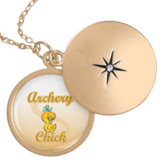 アーチェリーのひよこ ゴールドプレートネックレス
