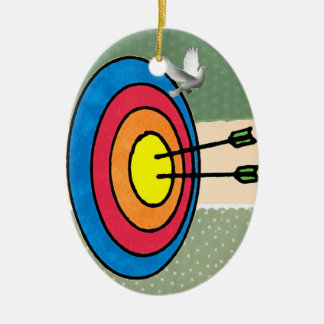 アーチェリーのクリスマスのオーナメントターゲット射撃、発砲 セラミックオーナメント