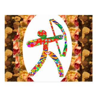 アーチェリーのスポーツ: ジャングルの目標の弓矢のキラー待伏せ ポストカード