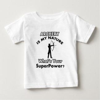アーチェリーのデザイン ベビーTシャツ