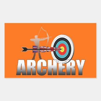 アーチェリーのロンドンターゲット射手のアートワーク 長方形シール