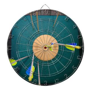 アーチェリーの矢の写真が付いているダート盤 ダーツボード