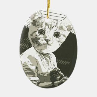 アーチェリー猫 セラミックオーナメント