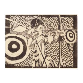 """アーチェリー24"""" x18""""木製の壁の芸術 ウッドウォールアート"""
